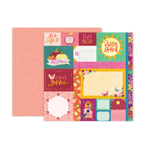 Pink Paislee - Truly Grateful Collection - 12 x 12 Double Sided Paper - Paper 1