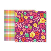 Pink Paislee - Truly Grateful Collection - 12 x 12 Double Sided Paper - Paper 2