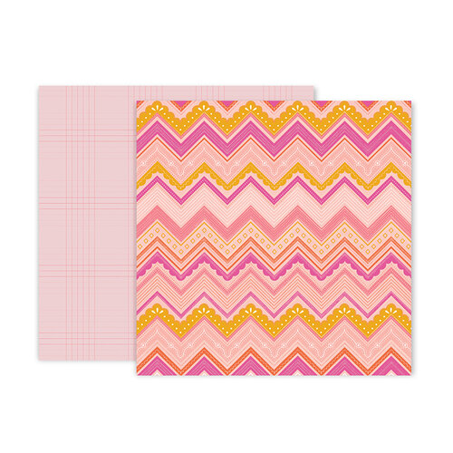 Pink Paislee - Truly Grateful Collection - 12 x 12 Double Sided Paper - Paper 6