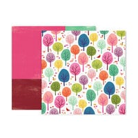 Pink Paislee - Truly Grateful Collection - 12 x 12 Double Sided Paper - Paper 7