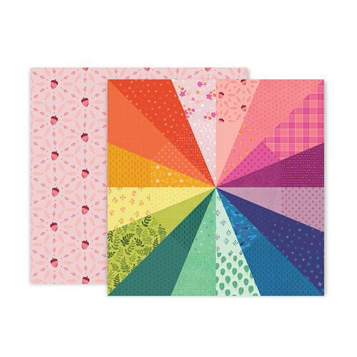 Pink Paislee - Truly Grateful Collection - 12 x 12 Double Sided Paper - Paper 8
