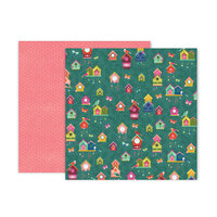Pink Paislee - Truly Grateful Collection - 12 x 12 Double Sided Paper - Paper 11