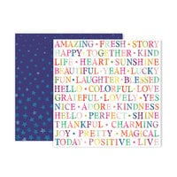 Pink Paislee - Truly Grateful Collection - 12 x 12 Double Sided Paper - Paper 13