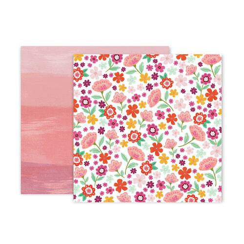 Pink Paislee - Truly Grateful Collection - 12 x 12 Double Sided Paper - Paper 15