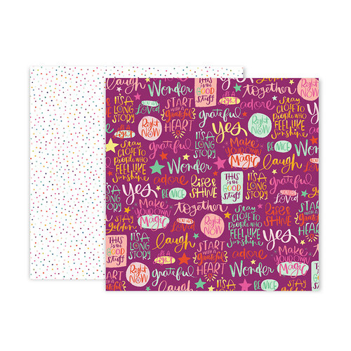 Pink Paislee - Truly Grateful Collection - 12 x 12 Double Sided Paper - Paper 17