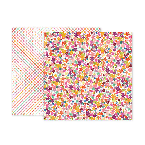 Pink Paislee - Truly Grateful Collection - 12 x 12 Double Sided Paper - Paper 19