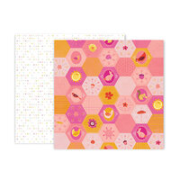 Pink Paislee - Truly Grateful Collection - 12 x 12 Double Sided Paper - Paper 21