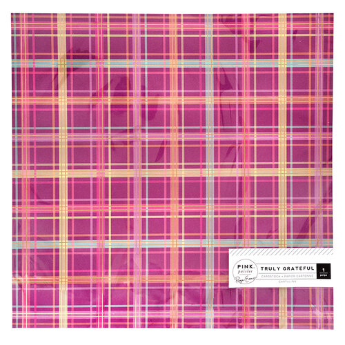 Pink Paislee - Truly Grateful Collection - 12 x 12 Specialty Paper