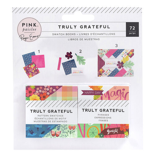 Pink Paislee - Truly Grateful Collection - 2 x 2 Paper Swatch Pads
