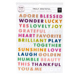 Pink Paislee - Truly Grateful Collection - Puffy Word Stickers with Matte Copper Foil Accents
