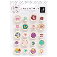 Paige Evans - Truly Grateful Collection - Self Adhesive Epoxy Wood Buttons