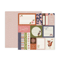 Pink Paislee - Again and Again Collection - 12 x 12 Double Sided Paper - Paper 1