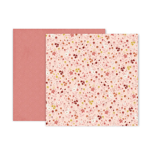 Pink Paislee - Again and Again Collection - 12 x 12 Double Sided Paper - Paper 12