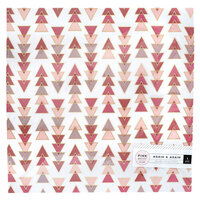 Pink Paislee - Again and Again Collection - 12 x 12 Vellum with Foil Accents