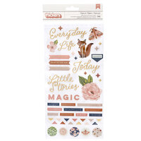 Pink Paislee - Again and Again Collection - Thickers - Puffy with Foil Accents - Phrase