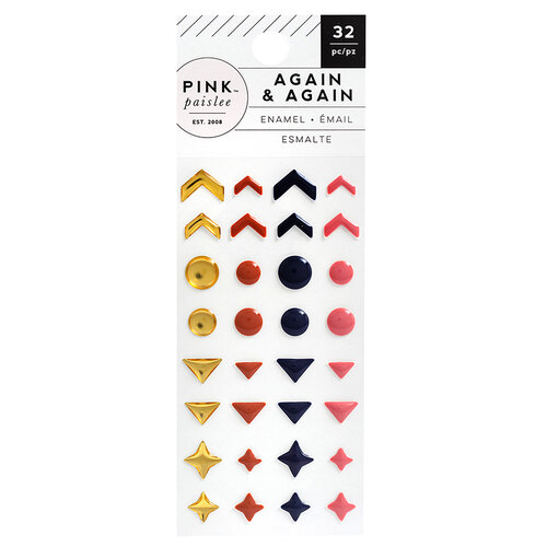 Pink Paislee - Again and Again Collection - Enamel Dots with Foil Accents