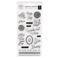 Pink Paislee - Again and Again Collection - Clear Acrylic Stamps