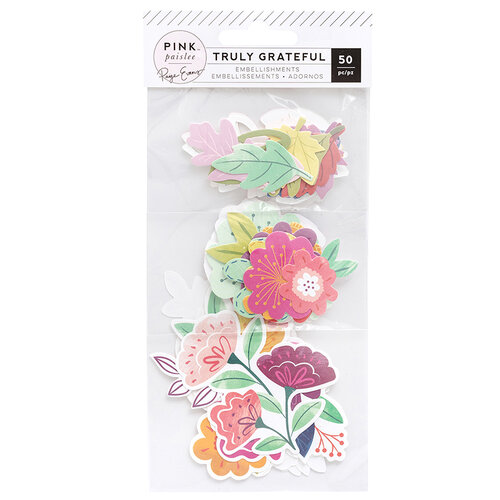 Pink Paislee - Truly Grateful Collection - Ephemera Pack - Floral