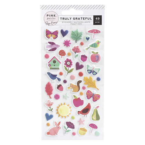 Pink Paislee - Truly Grateful Collection - Puffy Stickers