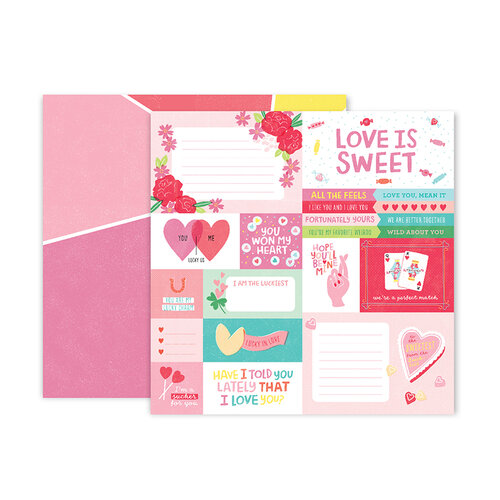 Pink Paislee - Lucky Us Collection - 12 x 12 Double Sided Paper - Paper 1