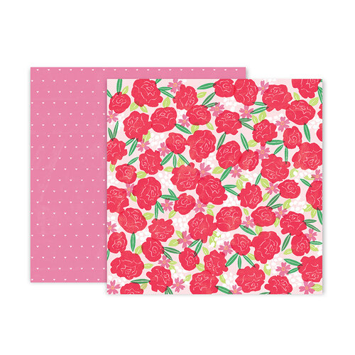 Pink Paislee - Lucky Us Collection - 12 x 12 Double Sided Paper - Paper 2