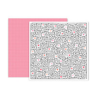 Pink Paislee - Lucky Us Collection - 12 x 12 Double Sided Paper - Paper 11