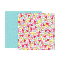 Pink Paislee - Lucky Us Collection - 12 x 12 Double Sided Paper - Paper 12
