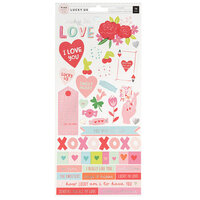 Pink Paislee - Lucky Us Collection - Cardstock Stickers with Iridescent Foil Accents