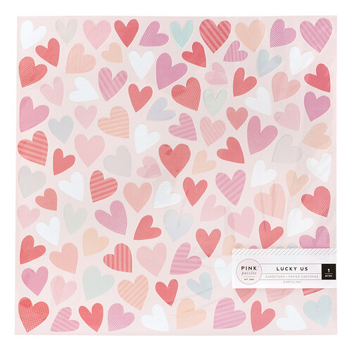 Pink Paislee - Lucky Us Collection - 12 x 12 Specialty Paper with Iridescent Foil Accents