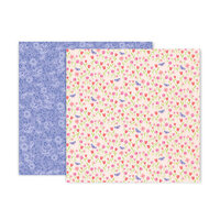 Pink Paislee - Bloom Street Collection - 12 x 12 Double Sided Paper - Paper 3