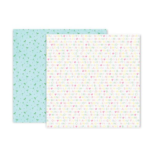 Pink Paislee - Bloom Street Collection - 12 x 12 Double Sided Paper - Paper 4