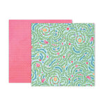 Pink Paislee - Bloom Street Collection - 12 x 12 Double Sided Paper - Paper 5