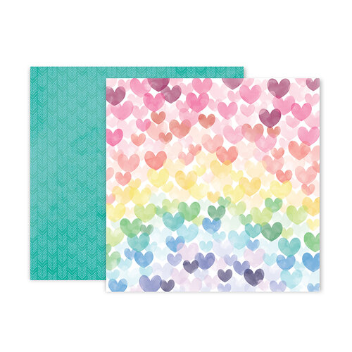 Pink Paislee - Bloom Street Collection - 12 x 12 Double Sided Paper - Paper 6