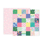 Pink Paislee - Bloom Street Collection - 12 x 12 Double Sided Paper - Paper 7