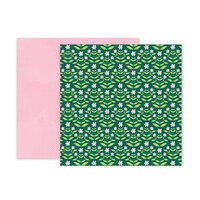 Pink Paislee - Bloom Street Collection - 12 x 12 Double Sided Paper - Paper 9