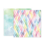 Pink Paislee - Bloom Street Collection - 12 x 12 Double Sided Paper - Paper 10