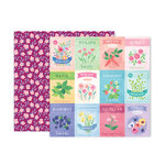 Pink Paislee - Bloom Street Collection - 12 x 12 Double Sided Paper - Paper 11