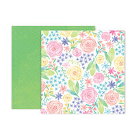Pink Paislee - Bloom Street Collection - 12 x 12 Double Sided Paper - Paper 12