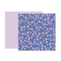 Pink Paislee - Bloom Street Collection - 12 x 12 Double Sided Paper - Paper 15