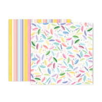 Pink Paislee - Bloom Street Collection - 12 x 12 Double Sided Paper - Paper 16