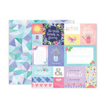 Pink Paislee - Bloom Street Collection - 12 x 12 Double Sided Paper - Paper 17