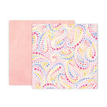 Pink Paislee - Bloom Street Collection - 12 x 12 Double Sided Paper - Paper 18