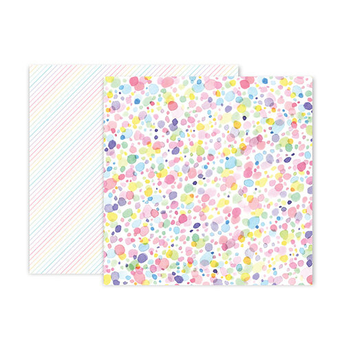 Pink Paislee - Bloom Street Collection - 12 x 12 Double Sided Paper - Paper 20