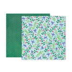 Pink Paislee - Bloom Street Collection - 12 x 12 Double Sided Paper - Paper 21