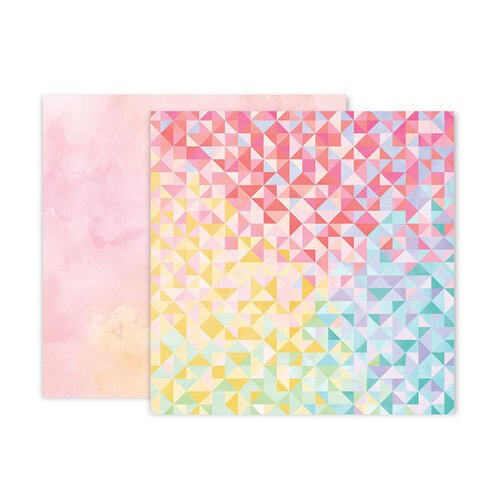 Pink Paislee - Bloom Street Collection - 12 x 12 Double Sided Paper - Paper 22