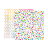 Pink Paislee - Bloom Street Collection - 12 x 12 Double Sided Paper - Paper 23