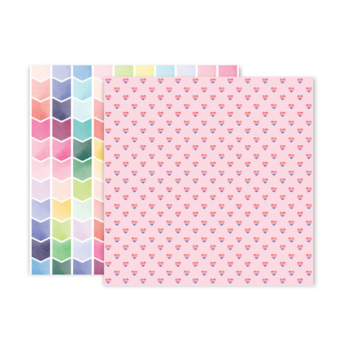 Pink Paislee - Bloom Street Collection - 12 x 12 Double Sided Paper - Paper 24