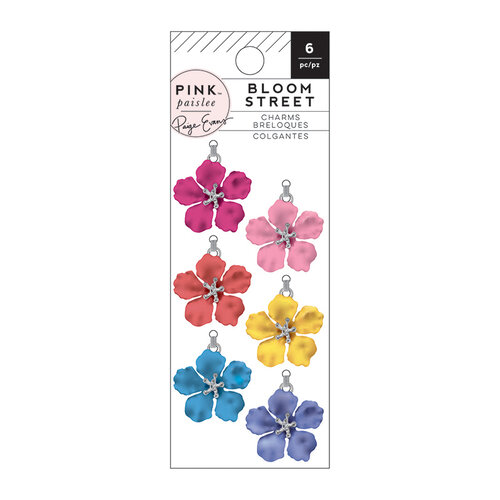 Pink Paislee - Bloom Street Collection - Embellishment - Metal Flower Charms