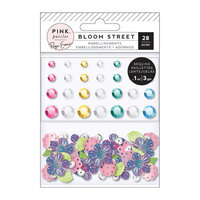 Pink Paislee - Bloom Street Collection - Mixed Embellishments - Shaped Sequins and Gems