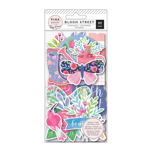 Pink Paislee - Bloom Street Collection - Ephemera with Iridescent Foil Accents
